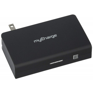 myCharge AmpProng+ Portable Charger 6700mAh / 2.4 Dual USB Port External Battery Pack Power Bank Foldable Wall Plug for USB and Cell Phones (iPhone XS, XS Max, XR, X, 8, 8 Plus, 7, 6S, Samsung Galaxy)