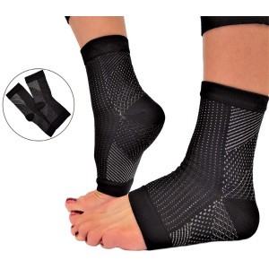 RiptGear Plantar Fasciitis Socks for Women and Men - 1 Pair Plantar Fasciitis Sleeves for Heel and Foot Pain with Ankle Compression (Small)