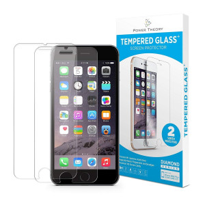 Power Theory iPhone 8 / iPhone 7 Glass Screen Protector [2-Pack] Easy Install Kit [Premium Tempered Glass]