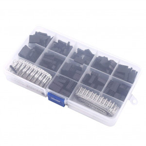 Yosoo 620Pcs Jumper Wire Cable Pin Header Connector Housing Kit Male and Female Crimp Pins Terminal Box
