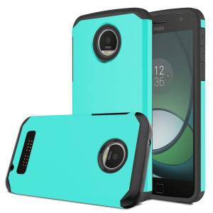 Moto Z Play Case, Venoro [Shockproof] Slim Hybrid Dual Layer Armor Defender Rugged Protective Case Cover for Motorola Moto Z Play / Moto Z Play Droid (Mint)