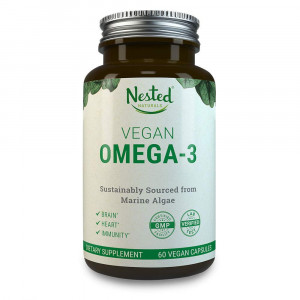 VEGAN OMEGA 3  Better than Fish Oil | 60 Capsules of Algal DHA and EPA | Plant Based Brain Supplement, Maintain Cardiovascular Health and Quality Prenatal Omega-3 | Vegetarian Fatty Acids Supplements