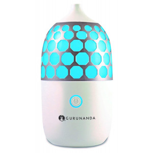 GuruNanda Essential Oil Diffuser- 90ml Honeycomb Aromatherapy Ultrasonic Diffuser, Cool Mist Humidifier with 7 Color LED Lights and Waterless Auto Shut-Off for Bedroom Home Office Kitchen Yoga Studio