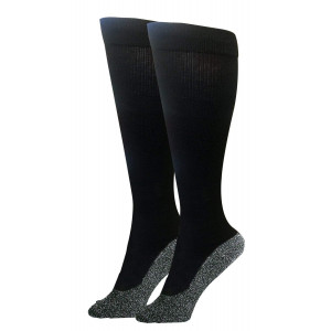 35 Below Compression Socks 1 pair in Black; Size Large - 2-IN-1 Compression and Warming Socks  Aluminized Thread with Aerospace Fabric Technology