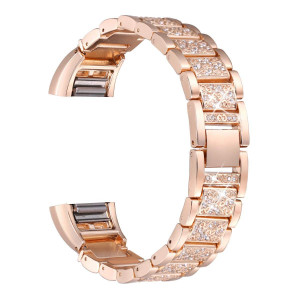 bayite Bling Bands Compatible Fitbit Charge 2, Replacement Metal Bands with Rhinestone Bracelet
