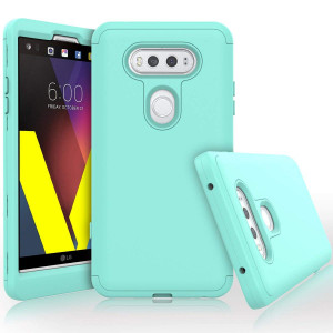 LG V20 Case, WeLoveCase Heavy Duty High Impact Defense Shield Hard PC Outer Shell with Inner Soft Rubber Hybrid 3 in 1 Combo Full-Body Armor Protective Case for LG V20 Cool Mint