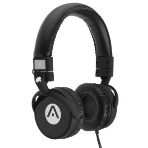 Audiomate A7 Stereo Bass Headphones with Microphone - Black