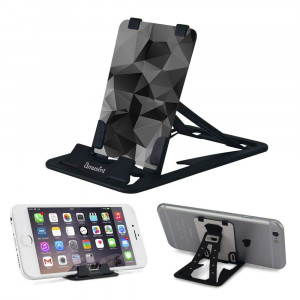 Slim-Pro Stand by Amusent-Ultra Slim Portable Phone Stand, Kickstand, Pocket Size-Foldable, Adjustable, Multi-Angle, Compatible w/iPhone, Smartphones and Tablets