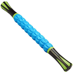 Reehut Trigger Point Muscle Roller Stick - 18 Inches Massager for Relief Pain, Sore, Cramping, Massage, Physical Therapy and Body Recovery (Blue)
