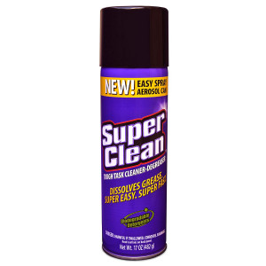 SuperClean Foaming Aerosol Multi-Surface All Purpose Cleaner Degreaser Spray, Biodegradable, 17oz Can