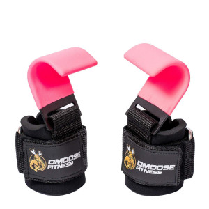 DMoose Fitness Weight Lifting Hooks Grip (Pair) - 8 mm Thick Padded Neoprene, Double Stitching, Non-Slip Resistant Coating  Secure Your Grip and Reach Your Goals with Premium Workout Hook Gloves