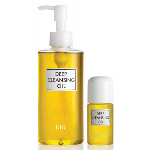 DHC Deep Cleansing Oil, 6.7 fl. oz and Deep Cleansing Oil Travel Size, 1 fl. oz.