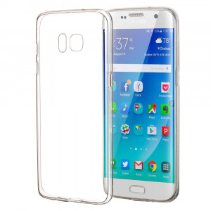 Samsung Galaxy S7 Edge Case, Elzo [Crystal] Clear Ultra Thin Slim TPU Cellphone Cover, Transparent Shock Absorption Soft Skin Sleeve, Protective Flexible Rubber Gel/Silicone Shell (Scratch Resistant)
