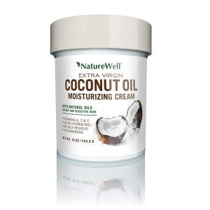 Naturewell Extra Virgin Coconut Oil Moisturizing Cream, 16 oz
