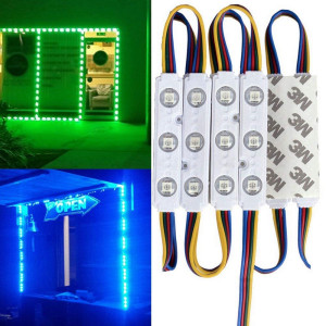 20FT Waterproof Colorful 5050 3 LED Light Module 12V RGB 120 LEDs With Remote Controller Power Plug for Outdoor Led StoreFront Signage Lighting