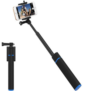 Sabrent Bluetooth Selfie Stick with Built-in 5200mAh Battery Charger (GR-SSTK)