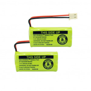 GEILIENERGY 2.4V 300mAh Battery Compatible with ATandT BT162342 BT-162342 BT166342 BT-166342 BT266342 BT-266342 BT183342 BT-183342 BT283342 BT-283342 VTech CS6719-2 Cordless Phone(Pack of 2)