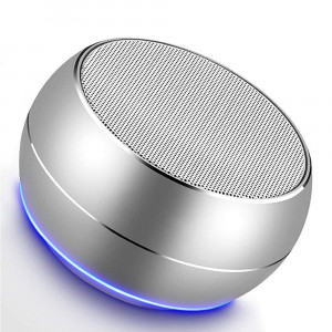 NUBWO Portable Bluetooth Speakers Mic, Hands-Free Function, Built-in Mic, Enhanced Bass iPhone, iPad, BlackBerry, Samsung More (Silver)