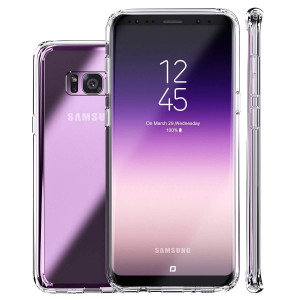 Galaxy S8 Plus Case,Clear Slim Hybrid Armor Perfect Fit Hard Anti-Scratch Excellent Grip Flexible Tpu Non Slip Non Bulky 360 Full Body Shockproof Protective Cover for Samsung Galaxy S8 Plus - Crystal