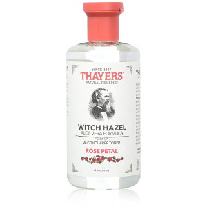 Thayers Alcohol-free Rose Petal Soothing Witch Hazel for Face and Skin with Aloe Vera, 12 oz (Pack of 3)
