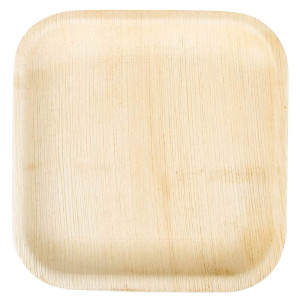 "Perfectware Palm Plate 10-25 10"" Palm Leaf Disposable Plates, 10"" Length, 10"" Width, 3.5"" Height (Pack of 25)"