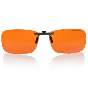 Clip-on Blue Blocking Amber Lenses for Sleep - BioRhythm Safe(TM) - Nighttime Eyewear - Special Orange Tinted Lenses Help You Sleep and Relax Your Eyes (Regular, Nighttime)