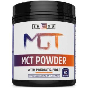 MCT Oil Powder with Acacia Prebiotic Fiber, Zero Net Carbs, Keto Friendly Fat and Fiber Source