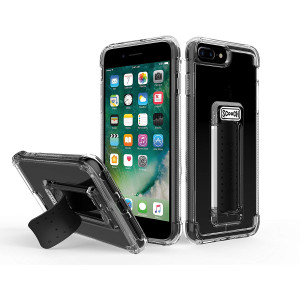 Scooch Wingman 5-in-1 Case for iPhone 8 Plus (Also fits 7 Plus, 6S Plus, 6 Plus) (Clear)