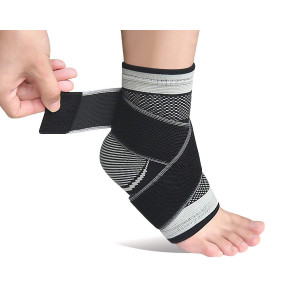 Plantar Fasciitis Socks,Compression Ankle Brace Sleeve with Arch Support for Eases SwellingandAchilles Tendonitis Heel Spurs Swelling Foot Pain Relief-Single
