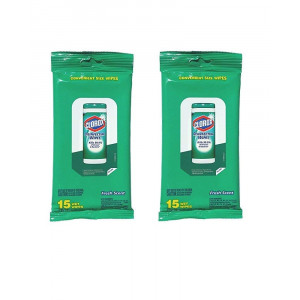 Clorox Disinfecting Convenient Size Wipes Fresh Scent ( two 15 count packages )