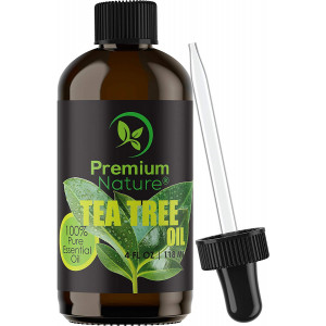 Tea Tree Pure Essential Oil - Natural Therapeutic Grade  Aromatherapy Relaxation Body and Skin Tag Remover Essential Oils for Diffusers Humidifiers and Carrier Oil Toenail Nail Fungus Acne and Lice Treatment