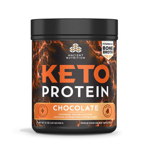 ANCIENT NUTRITION Chocolate Keto Protein, 19 Ounce
