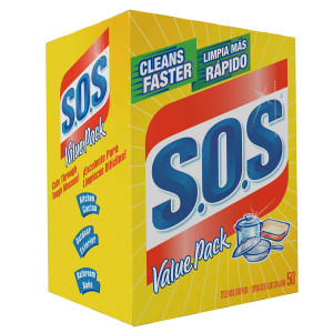 S.O.S 98014 Steel Wool Soap Pad (50 Count)