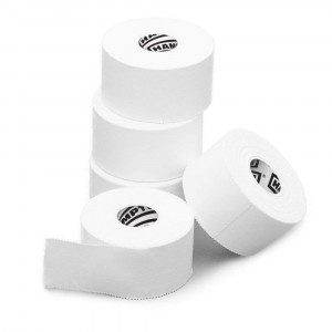 White Athletic Sports Tape VERY Strong EASY Tear NO Sticky Residue BEST TAPE for Athlete and Medical Trainers. PERFECT on bat, Lacrosse / Hockey stick, Lifters, Climbers and Boxing (White, 3-Pack)