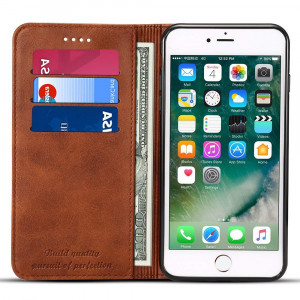 Case Compatible for iPhone 6/6S Leather Wallet Phone Case iPhone Case with Card Holder Kickstand Protective Flip Cover Brown Cover