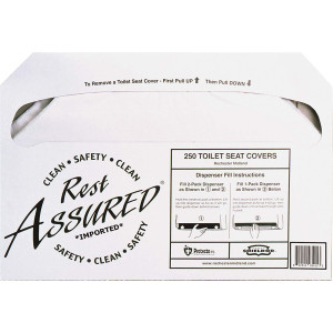 Impact Products Rest Assured Toilet Seat Covers (1 Pack - 250 Count) - Clean and Hygenic - Convenient - Self-Disposing - Flushable and Biodegradable ...