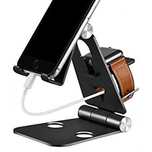 3 in 1 Phone Stand   Foldable Cell Phone Stands   for Apple Watch Stand   Portable Phone Holder Stand   Desktop Charging Dock   Cradle/Mount for iWatch iPhoneX, 8 7 6s Plus 8s c, Android by Tensteed