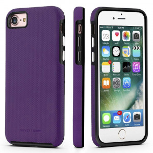 iPhone 7/8 Case, ImpactStrong Dual Guard Protection Shock-Absorbing Scratch-Resistant Protective Cover for Apple iPhone 7 and iPhone 8 - Purple