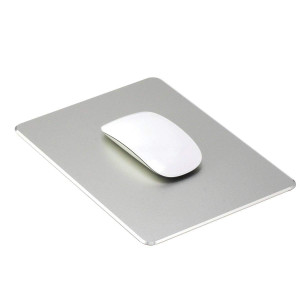 Ptalor, Aluminum Mouse pad Strong Sensitivity for Mouse,Non-Slip Base,Resistant to Dirt,Easy to ClearMouse pad with Micro Sand Blasting Aluminum Surface for Fast and Accurate Control (Silver)