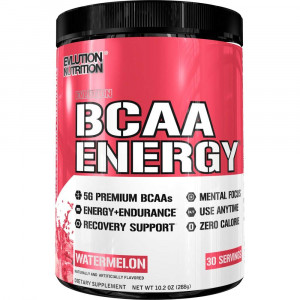 Evlution Nutrition BCAA Energy - High Performance, Energizing Amino Acid Supplement for Muscle Building, Recovery, and Endurance (Watermelon, 30 Servings)