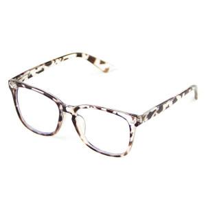 Cyxus Blue Light Blocking [Spring Hinge] Glasses, Clear Lens (Leopard Print)