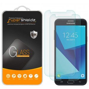[2-Pack] Supershieldz for Samsung Galaxy Halo (Cricket) Tempered Glass Screen Protector, Anti-Scratch, Anti-Fingerprint, Bubble Free, Lifetime Replacement Warranty