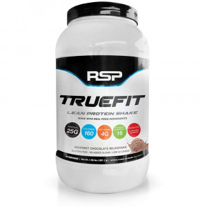 RSP TrueFit - Lean Meal Replacement Protein Shake with Fiber and Probiotics from Essential Real Whole Foods, Gourmet Chocolate Milkshake, 2 Pound Protein Powder for Men and Women
