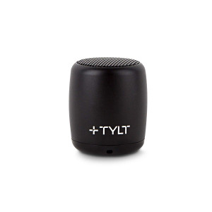 TYLT Mini Boom Bluetooth Speaker (Black) 3W Output on Bluetooth 4.2 and Up to 4 Hours of Playback on One Charge from This Portable Wireless Speaker with Microphone, Includes Micro USB Charging Cord