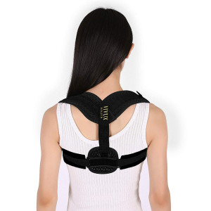 Posture Corrector for Women and Men | Back Support Brace for Upper Back and Neck Pain Relief | Back Straightener and Upright Trainer for Scoliosis and Spine Alignment | Under Clothes and Discreet | Soft Fabric