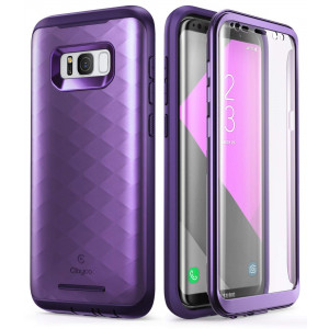 Galaxy S8+ Plus Case, Clayco [Hera Series] Full-body Rugged Case with Built-in Screen Protector for Samsung Galaxy S8+ Plus (2017 Release) (Purple)