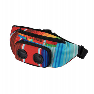 The #1 Fannypack with Speakers. Bluetooth Fanny Pack for Parties/Festivals / Raves/Beach / Boats. Rechargeable, Works with iPhone and Android. #1 Bachelorette Party Gift (Rainbow, 2018 Edition)