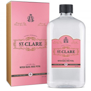 St Clare Alcohol-Free Witch Hazel 16oz  Rose Petal and Aloe Vera Natural Toner for Face and Skin