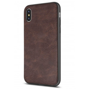 iPhone X Case/iPhone 10 Case Salawat Slim Shock Proof Phone Cover Lightweight Premium PU Leather TPU Bumper PC Protection for iPhone X iPhone 10 5.8inch(Darkbrown)