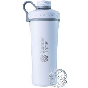 BlenderBottle Radian Insulated Stainless Steel Shaker Bottle, Matte White, 26-Ounce